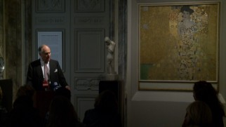 Ronald Lauder, the son of Estée, speaks alongside Klimt's Woman in Gold, a painting he spent $135 million to acquire.