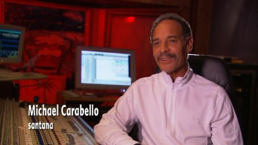 "Santana's Michael Carabello not only looks back at the concert film in ""From Festival to Feature"" shorts, he even contributes musically to the soundtrack restoration process."