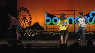 The Workaholics get a tepid reaction with a friendship sketch live at Bonnaroo.