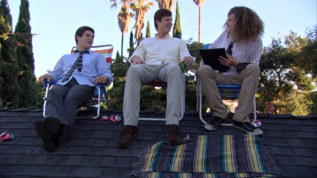"The house-sharing protagonists of Comedy Central's ""Workaholics"" (Adam DeVine, Anders Holm, and Blake Anderson) are more about play than work."