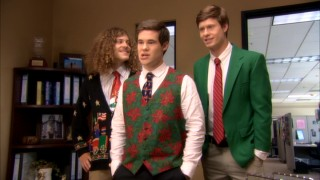 Their boss' inability to share in their half-Christmas cheer leads two of the three Workaholics to strike.