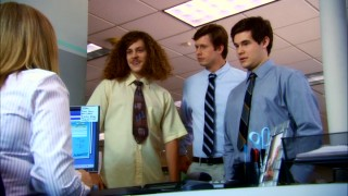 """Workaholics"" centers on these three slacker house/cubicle mates: Blake (Blake Anderson), Anders (Anders Holm), and Adam (Adam DeVine)."