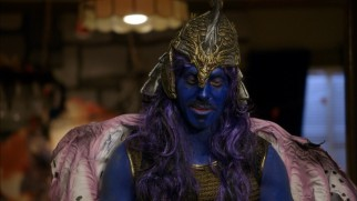 The Blu-ray's deleted scenes include more of Blake's blue body-painted fantasy role-playing game character.