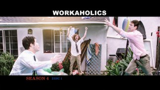 The Workaholics' slow motion shenanigans fill the main menu.