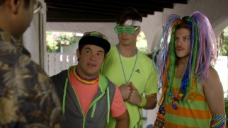 The guys are dressed to rave at the EDM Festival in the Season 4 premiere.
