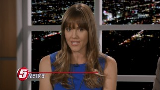 The latest exposé of investigative reporter Miss BS (Erinn Hayes) may cost the guys their job.