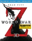 World War Z Blu-ray 3D + Blu-ray + DVD cover art -- click to read the press release.