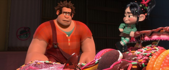 "Depressed bad guy Wreck-It Ralph and glitchy wannabe go-kart racer Vanellope von Schweetz form an unlikely alliance in #15, ""Wreck-It Ralph."""