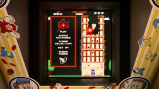 The Wreck-It Ralph Blu-ray and DVD menus cleverly feature the 8-bit Fix-It Felix Jr. game itself.