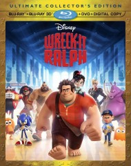 Wreck-It Ralph 4-disc set (Blu-ray 3D + Blu-ray + DVD + Digital Copy) combo pack cover art
