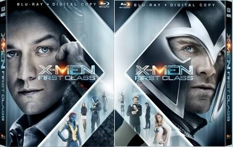 Two different covers for X-Men: First Class Blu-ray + Digital Copy cover