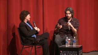 NY Times critic Janet Maslin moderates the Jacob Burns Center Q & A with director Jason Reitman.