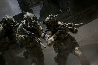 The Navy SEAL raid of Osama bin Laden's Pakistan compound makes for a small but integral part of the film.
