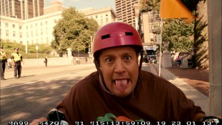 It's not a real blooper reel until a helmeted Kevin James sticks his tongue out at the camera.