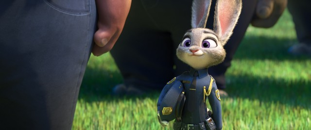 "Judy Hopps becomes the first rabbit to graduate from the Zootopia Police Academy in Disney's ""Zootopia."""