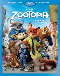 Zootopia: Blu-ray + DVD + Digital HD combo pack cover art